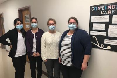 Members of Nova Scotia Health's Continuing Care Nursing Program in Port Hawkesbury.