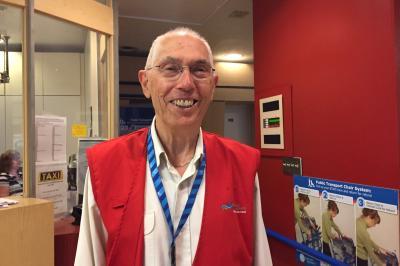 George McKelvie, hospitality volunteer