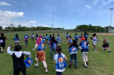 Participants of the Kids Run Club